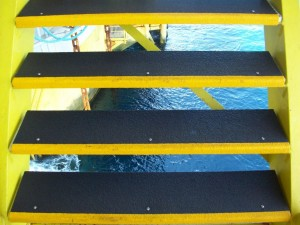 Anti-Slip Stair Treads on Malaysian Oil Rig
