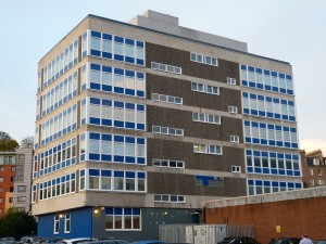 Close up of Dundee Police HQ showing FybaCore Insulation panels from SComp
