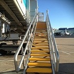 Birmingham Airport Steps with SComp anti slip stair treads