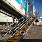 Birmingham Airport - Airplane Steps with SComp anti slip stair treads