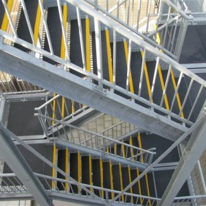 DHL Warehouse Fire Escape with SComp anti slip stair treads and flooring