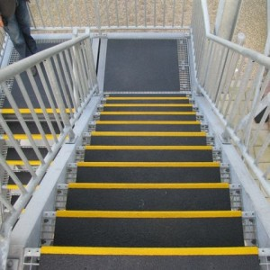 Fire Escape (DHL) with SComp anti slip stair treads and flooring