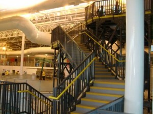 SComp Anti-Slip Stair Treads on Swimming Pool Stairway