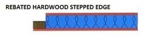 Rebated Hardwood Stepped Edge